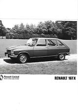RENAULT 16 TX PRESS PHOTO 'SALES BROCHURE'