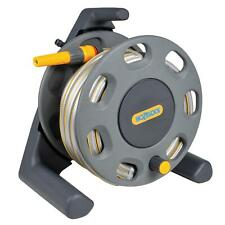 Hozelock 30m Garden Hose Reel Compact Freestanding with 25m Hose & Manual Rewind