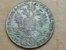 20 Kreuzer, Oostenrijk, Franciscus I, 1830, zilver, zeer fraai
