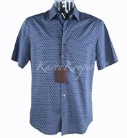 NWT AUTH LOUIS VUITTON BLUE MEN RUNWAY PRINTED LV CASUAL SHIRT SIZE XL