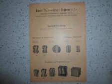 EMIL SCHNEIDER, DARMSTADT Spitzer Bleistiftspitzer Katalog/Prospekt Schreibwaren
