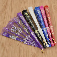 Vintage Klappfächer Blume Muster Foto Spiele Requisit Handfächer China Stil Lace