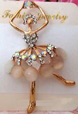 Ladies Balet Muse Crystal Rhinestone Brooch new
