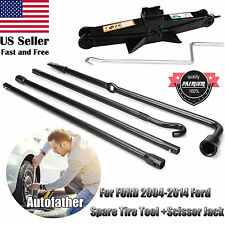 Fit For 2004-2014 Ford F150 Spare Tire Jack Tool Kit Pack With Case&Scissor Jack