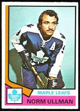 1974 75 O PEE CHEE OPC HOCKEY #236 NORM ULLMAN EX-NM TORONTO MAPLE LEAFS CARD
