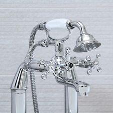Classic Handheld Traditional Cross Head Bath Shower Kit Water Mixer Tap 6017