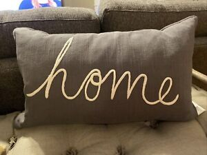 NWT Pottery Barn Gray Home Pillow Cover