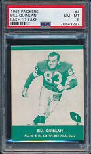 1961 Lake to Lake Packers #4 Bill Quinlan PSA 8 (FB01)