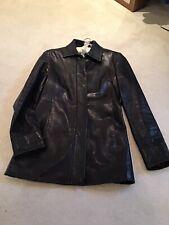 Banana republic Fitted Black  Leather Jacket/ Short Coat , Size 8/ 10