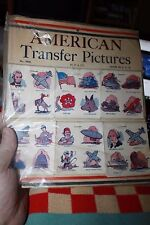 American Transfer Stickers children's water decals 1950's M P & Co. New in paper