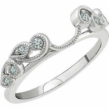 1/4 Ct Wrap Guard Solitaire Enhancer Diamonds 14k White Gold Ring