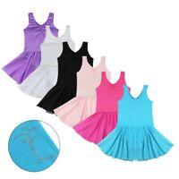 US Girls Ballet Dance Dress Kids Gymnastics Tutu Skirt Stage Dancewear Costumes