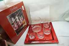 CRYSTAL BAR SET CHRISTMAS REINDEER ICE BUCKET OLD FASHIONED GLASSES TRAY BARWARE