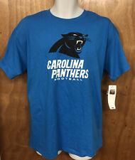 Men's NFL Team Apparel Carolina Panthers Football Blue T-Shirt Size Large New
