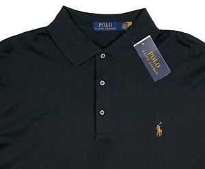 Men's RALPH LAUREN Black Long Sleeve POLO Shirt 2XLT 2XT 2LT TALL NWT NEW NiCe!