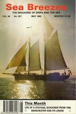SEA BREEZES MAGAZINE  (May 1992) STOWAWAYS - MERSEY SHIPPING -MANCHESTER LINERS