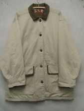 W2938 Woolrich Beige Button Up Long Coat Men L