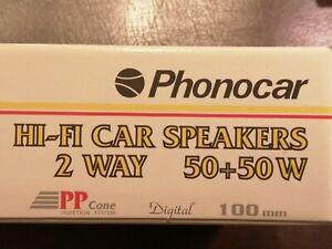 Phonocar HI-FI Car Lautsprecher, 2 Wege, 2x 50 Watt, 100cm Durchmesser