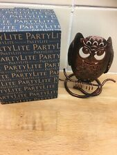 Partylite Rustic Owl Tealight Candle Holder