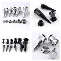 8-00G Surgical Steel Ear Taper Stretcher Kit Expander Plug Set Piercing Gauges