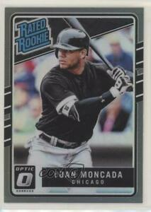 2017 Panini Donruss Optic Rated Rookies Black /25 Yoan Moncada #31 Rookie