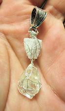 Rough Nigerian Nigeria  Brazil Phenacite Phenikite SS Crystal Pendant #1 reiki