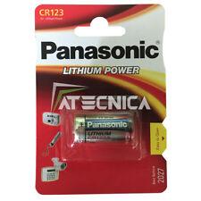 Pile au lithium Panasonic CR123 3V compatible DL CR123A EL123AP CR17345 K123LA