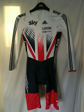 L adidas skinsuit bike cycling team GB SKY union jack LS RAC