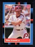 """1988 Donruss #330 Mike Schmidt Philadelphia Phillies HOF Baseball Card  """"mrp"""" NM"""