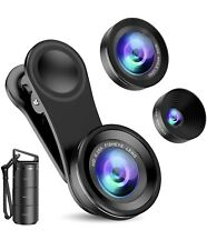 Phone Camera Lens, 3 in 1 Cell Phone Lens Kit for iPhone, Samsung