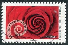 TIMBRE FRANCE AUTOADHESIF OBLITERE N° 930 / DYNAMIQUE // ROSE ROUGE