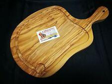 Tagliere in legno d'olivo DA PORTATA con canaletta
