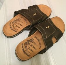 *NEW* Mann Black Slide On Sandals - Men's Size 10