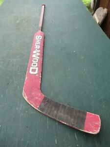 "VINTAGE  Wooden 55""  Long Hockey Stick Goalie SHER-WOOD 9950 SOP"