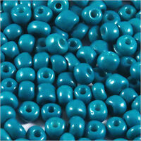 rocaille glass seed beads Opaque 4mm Blue Steel 20g (6/0)