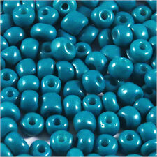 Perles de Rocailles en verre Opaque 4mm Bleu Acier 20g (6/0)