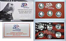 2005-S 5 Coin Silver Proof Quarter Set OGP W/COA