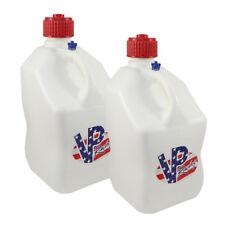 VP Racing 2 Pack Square White Patriotic Logo 5 Gal. Race Gas Can Fuel Water Jug