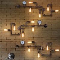 Industrial Loft Steampunk Wall Lamp Wall Fixture Light Rustic Vintage Pipe Light