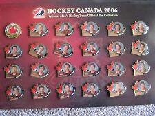 2006 Hockey Canada Pin set of 24 in Folder. Brodeur, Sakic, Luongo, etc.