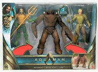 DC Comics Aquaman Deluxe 3 Pack Aquaman Orm Brine King Action Figure Toy