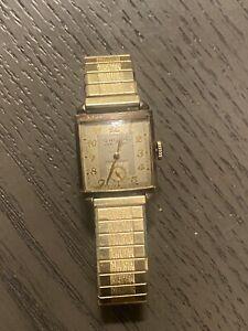 Vintage Mens Wristwatch Gruen Veri-thin Precision Non working, Nice!