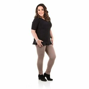 Just Be You Chiffon Trim Top grey, black, peach various sizes NEW by Lisa Riley