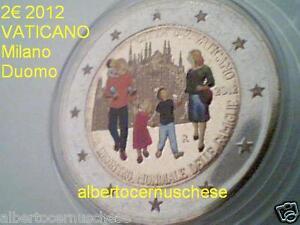 2 euro 2012 fdc Vaticano Vatican Vatikan Famiglie Duomo Milano colorato smaltato