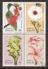 PALAU ISLANDS #'s 59-62 MNH Christmas Flowers