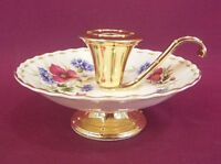 ROYAL ALBERT FLOWER OF THE MONTH AUGUST CANDLE HOLDER