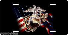 USMC  License Plate  Marine Corps Semper Fidelis  United States Flag USMC1