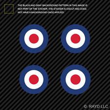 "(4x) 1.5"" RAF Roundel Sticker Decal Self Adhesive Vinyl Royal Air Force British"