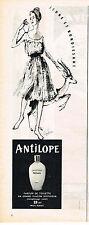 PUBLICITE ADVERTISING  1960   WEIL  parfum ANTILOPE