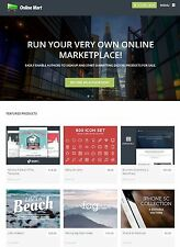Online Digital Marketplace / Software Store Free Hosting + Installation